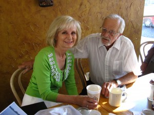 """""""Coffee with the Commissioner"""" is always popular with Sandy at Nola's Second Line Cafe"""