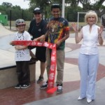 Commissioner Sandy Murman attends the Brandon Skatepark Ribbon Cutting