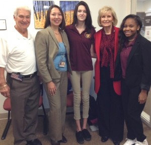 Commissioner Sandy Murman and former Mayor of Temple Terrace Joe Affronti, take a tour of the A-rated Brooks-DeBartolo Collegiate High School led by Principal Kristine Bennett.