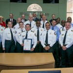Commissioner Sandy Murman honors Hillsborough County Fire Rescue as Community Heroes for their teamwork, bravery and heroic efforts to rescue a construction worker trapped in a mud and water-filled trench in Apollo Beach.