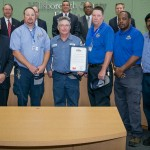 Commissioner Sandy Murman honors Hillsborough County Public Works as Community Heroes for their teamwork, bravery and heroic efforts to rescue a construction worker trapped in a mud and water-filled trench in Apollo Beach.