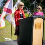 Commissioner Murman helps celebrate the 25th Anniversary of the Jan K. Platt ELAPP in Odessa as Jan Smith looks on.