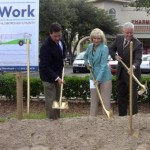 Commissioner Murman helps break ground for the county's first bus rapid transit line to run from the USF area to downtown Tampa