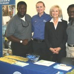 Sandy takes a moment to meet with representatives from Hillsborough Community College (HCC) at her South County Job Fair in Ruskin