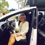 Sandy attends the Hillsborough Area Regional Transit's HYPERlink unveiling.