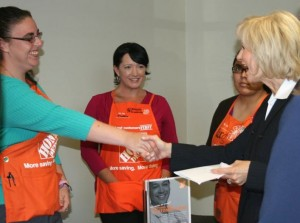 Commissioner Murman welcomes The Home Depot, another large employer at her South County Job Fair in Ruskin; business participants interviewed job seekers on the spot in many cases