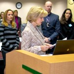 Commissioner Sandy Murman presents a proclamation for Human Trafficking Awareness Month to members of the Community Campaign Against Human Trafficking – Tampa Bay.