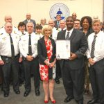 Commissioner Murman proclaims Hurricane Preparedness Week with Emergency Management staff.