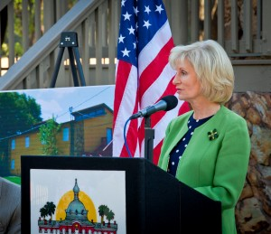 Commissioner Murman speaks at Friendship Village Ribbon-Cutting ceremony