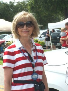 Commissioner Sandy Murman participates in the Fourth of July Parade in Brandon.