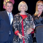 Rich Strehl, Executive Director of the Brandon Foundation, along with Foundation President, Rhonda Ory Williams, present Commissioner Sandy Murman with the Foundation's first-ever Lifelong Achievement Award, honoring Sandy for her contributions to the community.