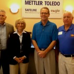Commissioner Sandy Murman visits with Mettler-Toledo Safeline Inc.'s General Manager, Viggo Nielson, (3rd from left), Ron Barton, Director of Economic Development for Hillsborough County (left) and Jerry Custin, President/CEO of the Upper Tampa Bay Chamber.
