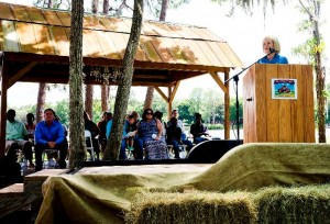 "Commissioner Murman speaks at the first Tampa Bay Child Adoption Education Day event at Old McMicky's Farm to bring attention to the challenges local children have in finding their ""forever families."""