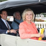 Sandy rides in 1926 Ford Model T to re-dedicate Historic Platt Street Bridge
