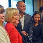 Sandy helpls dedicate the new Derek Jeter Center for Phoenix House.