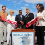 Sandy, a Tampa Port Authority Board member, helps cut the ribbon at the Port's new Petroleum Terminal Expansion along with Rep. Mark Danish; FDOT Secretary Ananth Prasad; TPA President/CEO Paul Anderson; Sen. Jeff Brandes; and Rep. Dana Young.