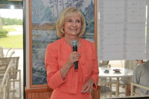Sandy speaks to the new Riverview Woman's Club