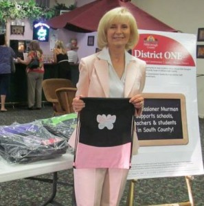 "Sandy worked with the Office Depot Foundation to secure 200 ""SackPacks"" for South County school students"