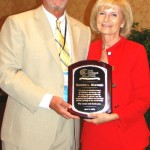Stephen Martaus, Executive Director of the Early Childhood Council of Hillsborough County presented Sandy with the ECC's first Lifetime Achievement Award for children's advocacy at its statewide conference in Tampa.