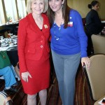 Commissioner Sandy Murman spoke to the Hispanic Professional Women's Association at the Double Tree. Here she is with Pilar Ortiz, President of the HPWA.