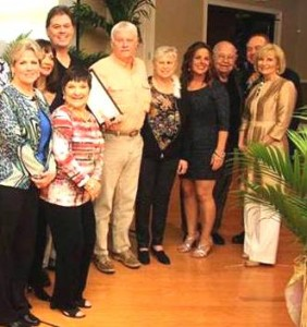 Officers and members of the SouthShore Chamber of Commerce accepted commendations from Sandy honoring the Chamber for its support of the community, and Dickman Realty in Ruskin celebrating 90 years.