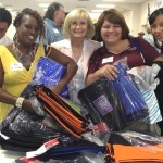 Sandy, along with the Office Depot Foundation, delivered 200 backpacks for South County school students at the SouthShore Chamber of Commerce Teacher Breakfast