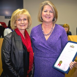 Commissioner Murman recognized Susan Bruno with a commendation for being named Tampa Bay Business Journal's Health Educator of the Year at a meeting of the BOCC.