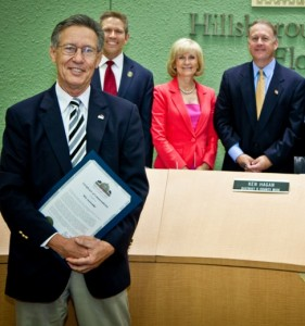 Commissioner Murman and the Board of County Commissioners honored Wit Ostrenko, President of the Museum of Science and Industry, for his 25 years of service to the museum and the community.