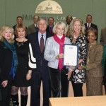 Sandy proclaims March 2013 as Women's History Month in Hillsborough County while honoring the new and most recent inductees to the Hillsborough County Women's Hall of Fame.