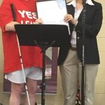 Commissioner Murman delivered the welcome at the 8th annual YES! FAIR event along with Becki Forsell, Founder and Executive Director of YES! of America United.