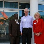 Sandy and Tampa City Councilman Frank Reddick attended a ribbon-cutting for Jack Berlin and Accusoft's new offices