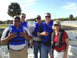 Commissioner Sandy Murman toured beautiful South Hillsborough County parks by boat with County Staff Greg Horwedel, Deputy County Adminstrator; Dexter Barge, Assistant County Administrator; Forest Turbiville, Director of Parks; and Ross Dickerson, Environmental Lands Manager.