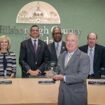 The Transportation Disadvantaged Board honored the BOCC for its recognition of the importance of Sunshine Line and the services it provides for the disadvantaged community.