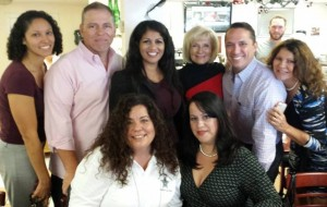 Commissioner Sandy Murman at Arco Iris Cafe with Vivian Santiago McIlrath, Tony Morejon, Marilyn Alvarez, Shanida De Gracia, Julia Palacios, Danny Alvarez Sr. and Norma Camero Reno.
