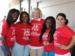 HCC student helpers at Commissioner Sandy Murman's 2014 South County Job Fair