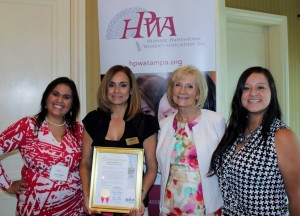 Sandy honored the Hispanic Professional Women's Association for its positive impact on the lives of countless Hispanic women in the Tampa Bay area.