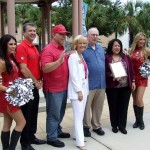 Commissioner Sandy Murman, Joe Chillura, county staff and the Tampa Bay Buccaneers helped celebrate Hispanic Heritage during a festival at Chillura Park.
