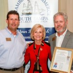 Sandy recognizes the South Tampa Chamber of Commerce on the occasion of its 90th Anniversary. Accepting the commendation were Mike Jenkins and Bill Yanger.