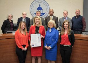 Commissioner Sandy Murman proclaims American Heart Month in Hillsborough County.