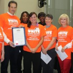 Sandy presents a proclamation to the County's Anti Bullying Advisory Committee setting October as National Bullying Prevention Month in Hillsborough County