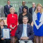 """Sandy proclaims """"Disability Awareness Day"""". From left are: Sandra Sroka, County ADA Liaison, Ben Ritter, Co-Chair, Mayor's Alliance for Persons with Disabilities; Glorie Singleton, Agency for Persons with Disabilities, and Carrie Shelton, Division of Vocational Rehabilitation."""