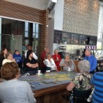 Sandy Murman hosted a Coffee with the Commissioner event with representatives from the FDOT at the Waterset Landing Club & Cafe in SouthShore. More than 30 residents attended.