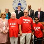 Commissioner Sandy Murman proclaimed Disability Awareness FAIR and Community Inclusion Day in Hillsborough County. On hand to accept the proclamation was Becki Forsell and members of her YES! Organization. This year's YES! FAIR will be at the All Peoples Life Center on October 7th.