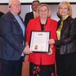 Commissioner Sandy Murman honors Wesley and Judy Dunn for their service and devotion to the Tampa Seafarers Center and Tampa Port Ministries with a commendation from the Hillsborough BOCC at a meeting of the Tampa Port Authority Board.