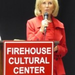 """Sandy helps dedicate the Ruskin Firehouse Cultural Center. """"This building embodies the history and culture of Ruskin and South Hillsborough County,"""" she said at the event."""