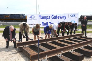 Sandy participates in the Gateway Rail dedication ceremony at the Port's Container Terminal. This is a public-private partnership with Tampa Port Authority, CSX, TRANSFLO, and Kinder Morgan Energy Partners. The facility helps position the Port of Tampa as West and Central Florida's energy gateway.
