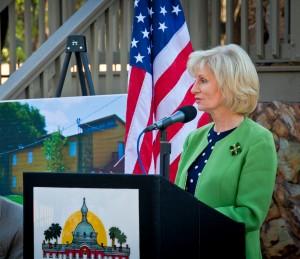 Commissioner Murman speaks at Friendship Village Ribbon-Cutting ceremony