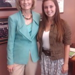 Sandy takes time to meet with Girls State Finalist Kendall McDonald