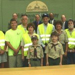 Sandy honors the Keystone Civic Association Adopt-A-Roaders