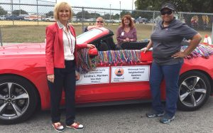 Sandy participates in the Martin Luther King, Jr. Day Parade with county neighborhood relations.
